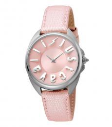 Just Cavalli Pink Logo Dial Watch