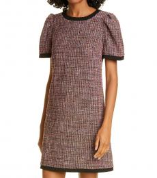 Kate Spade Black Puff Sleeve Tweed Dress
