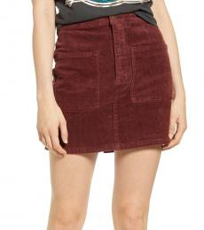 Billabong Brown Corduroy Mini Skirt
