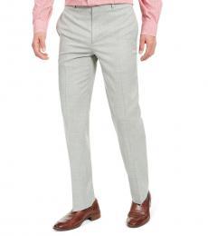 Ralph Lauren Olive Classic-Fit Sharkskin Dress Pants
