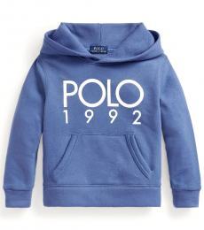Ralph Lauren Little Boys Bastille Blue Polo 1992 Hoodie