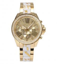 Michael Kors Gold White Zebra Watch