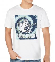 True Religion White Buddha Logo T-Shirt