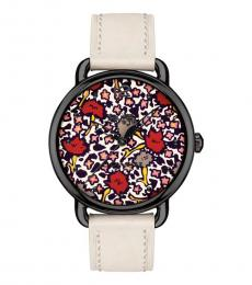 Coach White Floral Dial Watch