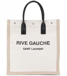 Saint Laurent Beige Rive Gauche Large Tote