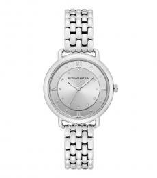 BCBGMaxazria Silver Round Dial Watch