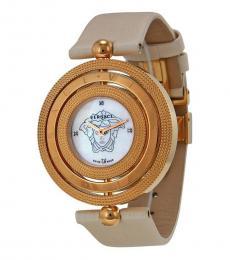 Beige Eon Diamond Dial Watch