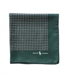 Ralph Lauren Teal Allover Pattern Pocket Square