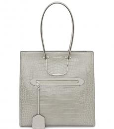Alexander McQueen Grey The Tall Story Large Tote