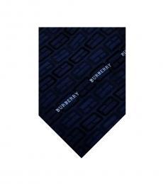 Burberry Dark Blue Silk Tie