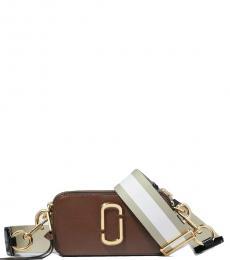 Marc Jacobs Brown Snapshot Small Crossbody Bag