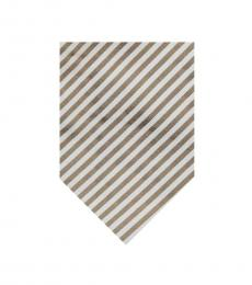 Gold Streamline Stripes Silk Tie