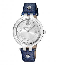 Roberto Cavalli Blue Logo Striking Watch