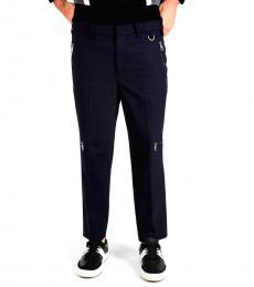 Neil Barrett Midnight Blue Wool Blend Pants