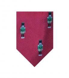 Red Soldier Holiday Printed Silk Tie