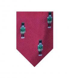 Ralph Lauren Red Soldier Holiday Printed Silk Tie