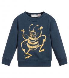 Baby Boys Navy Biz Sweatshirt
