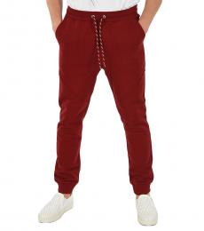 Red Printed Logo Joggers