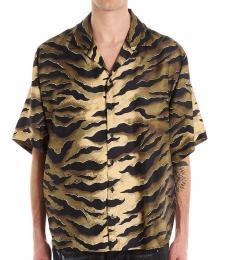 Dsquared2 Brown Tiger Short Sleeve Shirt