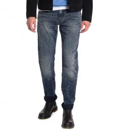 True Religion Dark Blue Geno Relaxed Slim Jeans