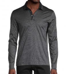 Hugo Boss Dark Grey Paxton Long-Sleeve Polo
