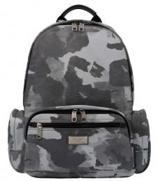 Dolce & Gabbana Silver Camouflage Large Backpack