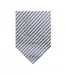 Burberry Blue Well Tailored Stripes Silk Tie