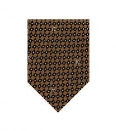 Golden Brown Micro Geometric Tie