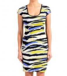 Multicolor Short Sleeves Dress