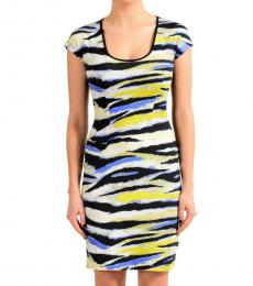 Just Cavalli Multicolor Short Sleeves Dress