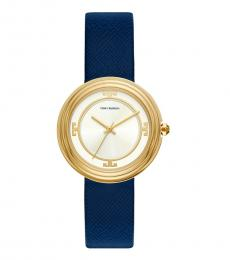 Navy Gold Bailey Watch
