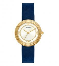 Tory Burch Navy Gold Bailey Watch