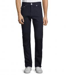 True Religion Dark Wash Rocco Flap Pocket Straight Jeanss