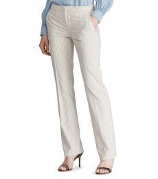 BlackWhite Pinstripe Straight-Leg Pant