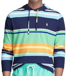 Multi Striped Jersey Hooded T-Shirt