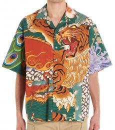 Dsquared2 Multicolor Zodiac Short Sleeve Shirt