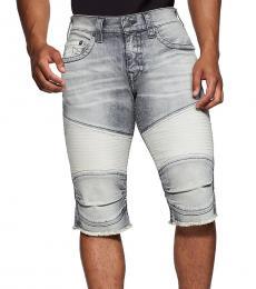 True Religion Indigo Cinder Geno Moto Shorts