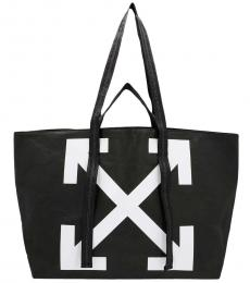 Off-White Black Wrinkle Commercial Large Tote