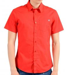 Red Short Sleeve Casual Shirt