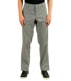 Gray Stretch Casual Pants