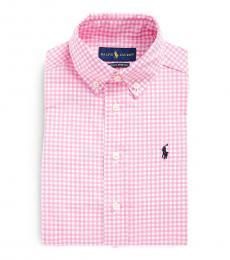 Ralph Lauren Little Boys Pink Gingham Dress Shirt
