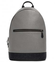 Coach Heather Grey West Slim Large Backpack