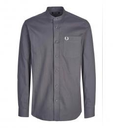 Fred Perry Grey Solid Logo Shirt