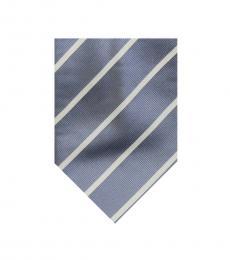 Burberry Grey Dapper Stripes Silk Tie