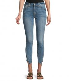7 For All Mankind Medium Blue Skinny Ankle Jeans