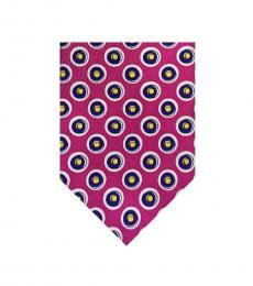 Ralph Lauren Pink Skinny Circles Print Tie
