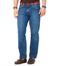 Ralph Lauren Blue Straight-Fit Stanton Jeans