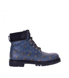 Blue Bees Crowns Ankle Boots