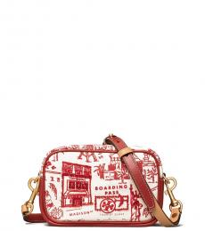 Tory Burch Red Destination Perry Printed Mini Crossbody
