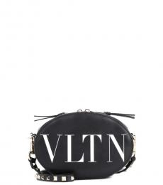 Valentino Garavani Black Logo Mini Crossbody